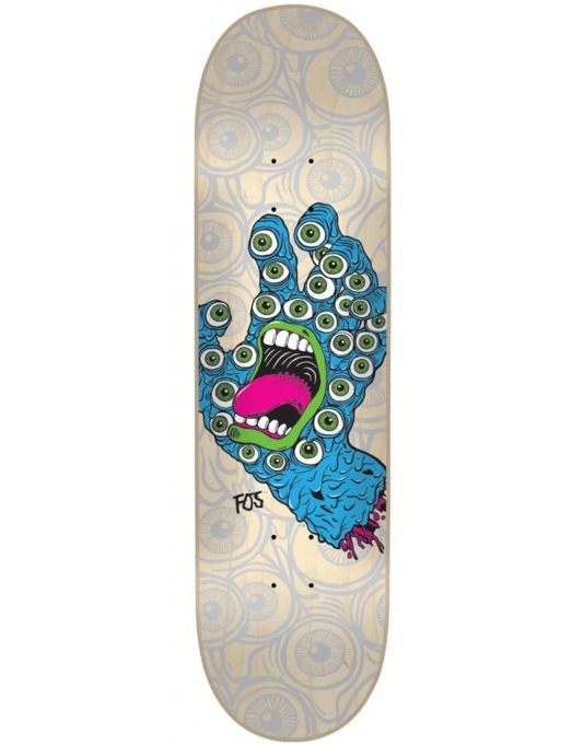 Santa Cruz x Fos Screaming Hand Team Deck - 8.2""