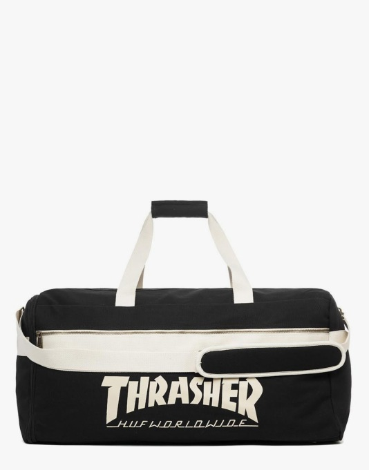 HUF x Thrasher Duffel Bag - Black