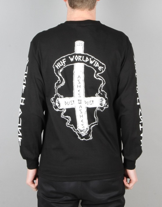 HUF x Ty Dolla $ign Ashes to Ashes L/S T-Shirt - Black