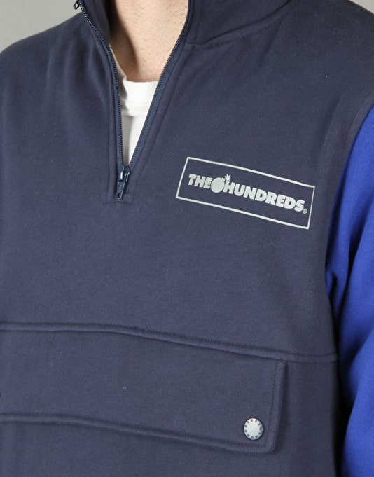The Hundreds Tactics Half Zip Hoodie - Navy
