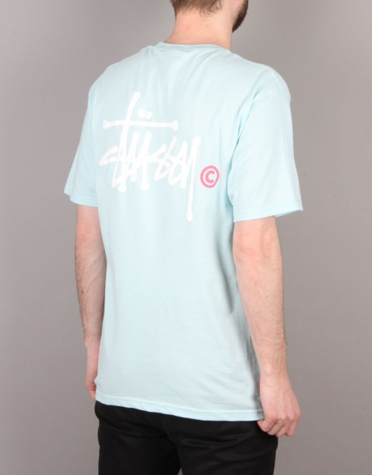 Stüssy Basic Logo T-Shirt - Light Blue