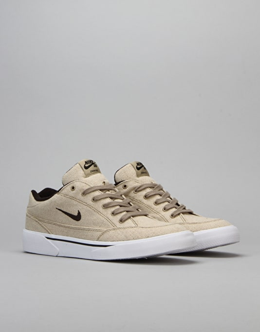 Nike SB Zoom GTS Skate Shoes - Khaki/White/Black