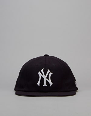 New Era 19Twenty MLB NY Yankees Vintage 8 Panel Fitted Cap - Navy