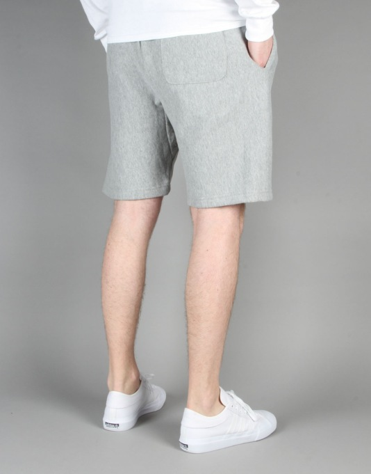 Stüssy Stock Fleece Shorts - Grey Heather