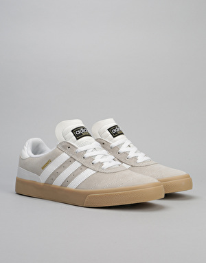 Adidas Busenitz Vulc ADV Skate Shoes - Crystal White/Crystal White/Gum