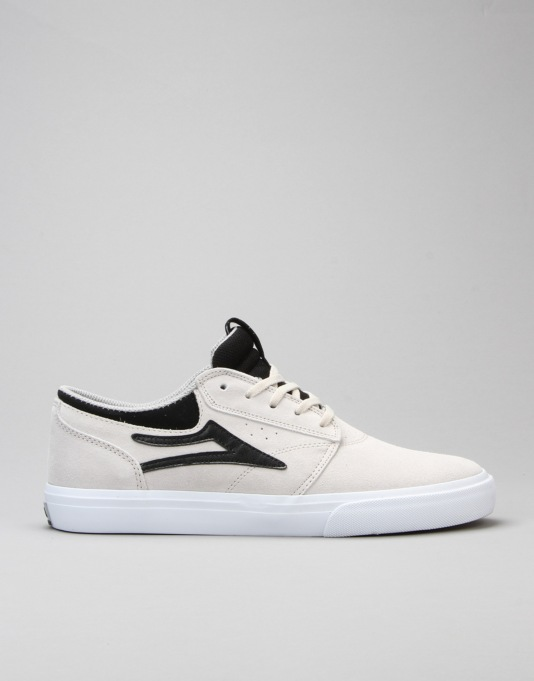 Lakai Griffin Skate Shoes - White/Black Suede