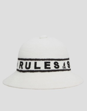Kangol Band Bermuda Casual Bucket Hat - White