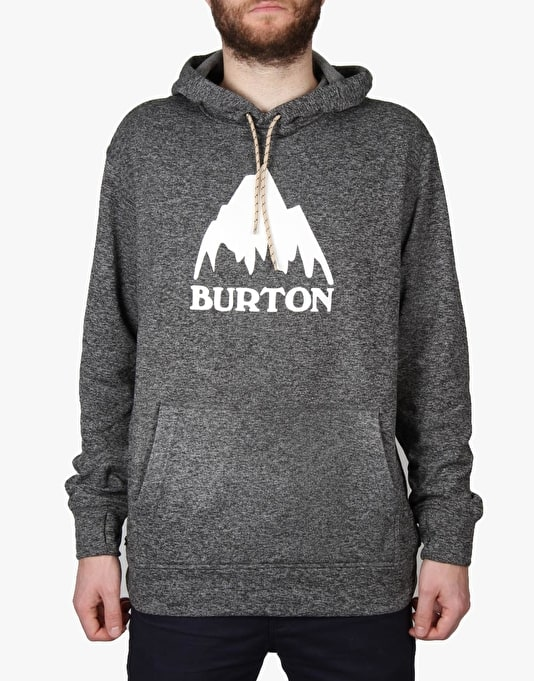 Burton Oak 2016 Snowboard Pullover Hoodie - True Black/Dark Heather