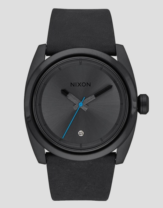 Nixon Kingpin Leather Watch - Black