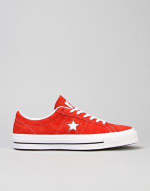 Converse One Star Skate Shoes - Red/White/Gum