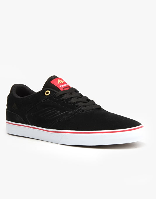 Emerica The Reynolds Low Vulc Skate Shoes - Black/Red/White