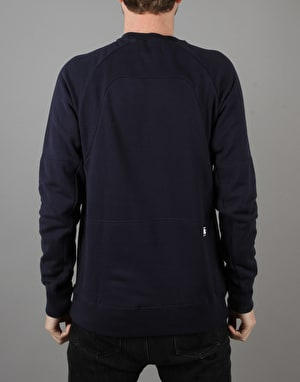 Nike SB Everett Motion Fleece Crew - Obsidian/Blue
