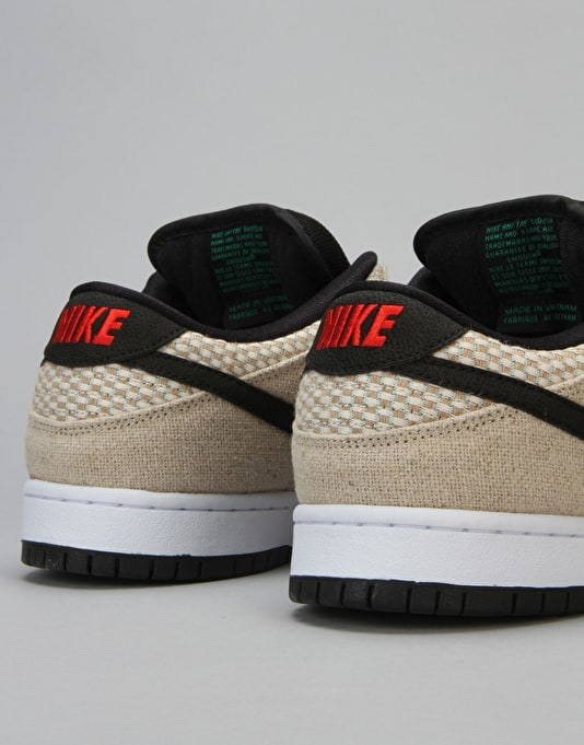 Nike SB Dunk Low Premium Skate Shoes - Bamboo/White/Red/Black
