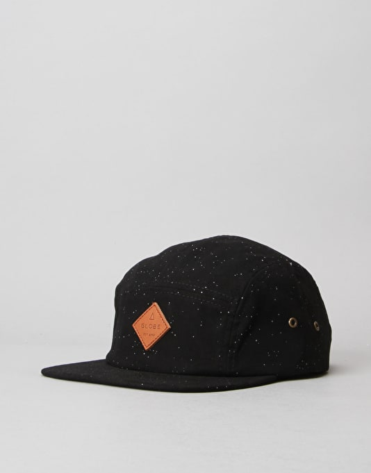 Globe Hartford 5 Panel Cap - Black/Black