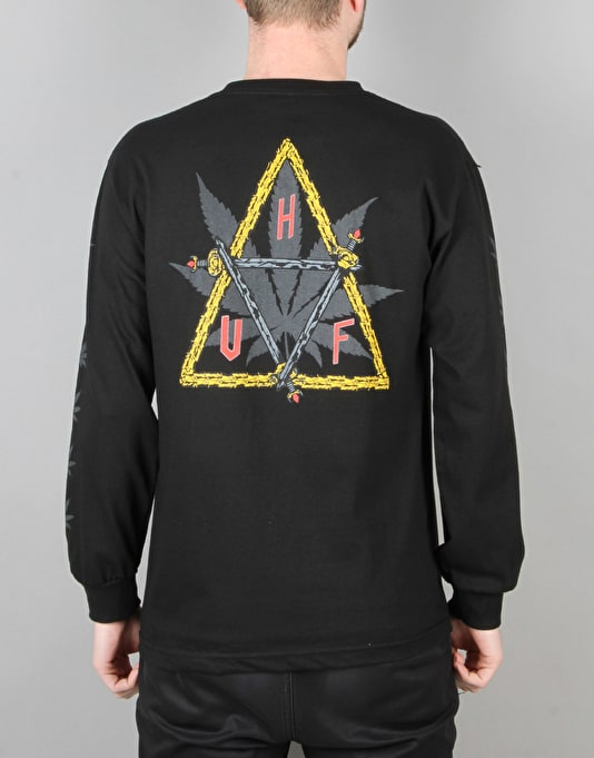 HUF x Ty Dolla $ign Swords Triple Triangle L/S T-Shirt - Black