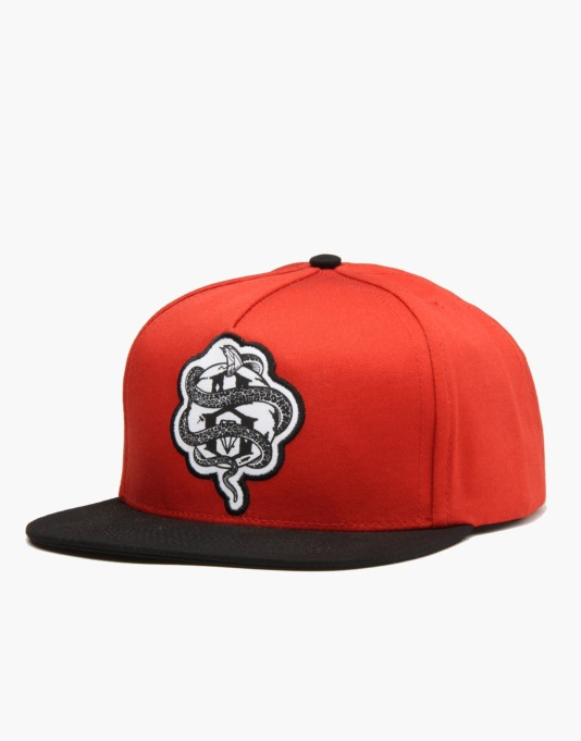 Rebel8 World Famous Snapback Cap - Rust Duck Canvas/Black