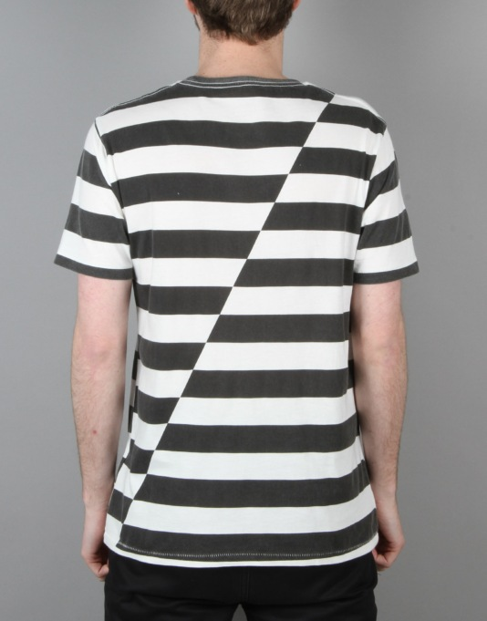 Globe Moonshine T-Shirt - Black Stripe