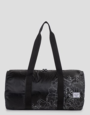 Herschel Supply Co. x Disney Packable Duffel Bag - Black/Screen Print