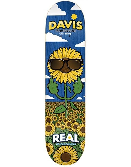Real x Glassy Sunhaters Davis Pro Deck - 8.06""