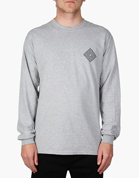 The National Skateboard Co. Fade Rose L/S T-Shirt - Sport Grey