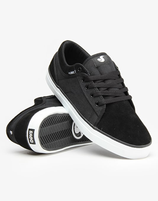 DVS Aversa Skate Shoes - Black Suede Canvas