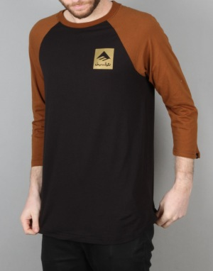 Emerica x Chocolate Logo Raglan T-Shirt - Brown/Black