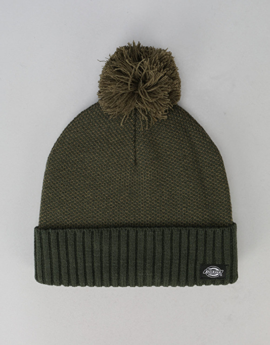 Dickies Jonesville Bobble Beanie - Dark Olive