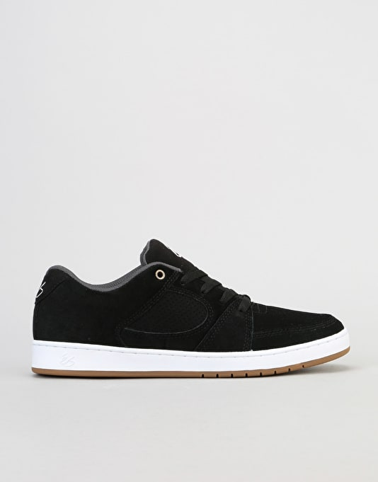 éS Accel Slim Skate Shoes - Black/White