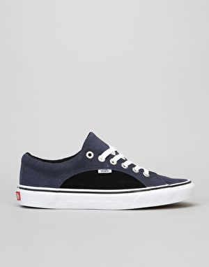 Vans Lampin Skate Shoes - Suede Parisian Night Black