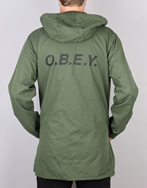 Obey Slugger Parka Jacket - Dark Army