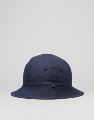 Brixton Banks Reversible Bucket Hat - Navy/Stripe