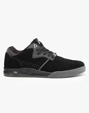 Supra Quattro Lucien Clarke Skate Shoes - Black/Grey