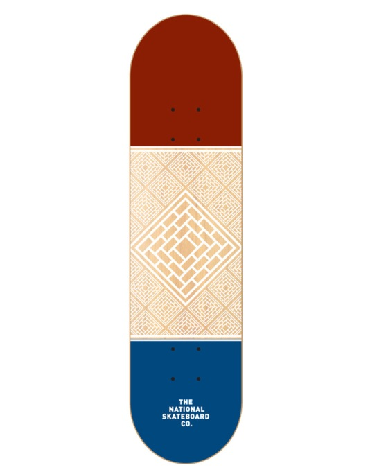 The National Skateboard Co. Division Team Deck - 8.125""