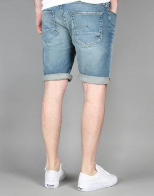 DC Worker Straight Denim Shorts - Indigo Bleach