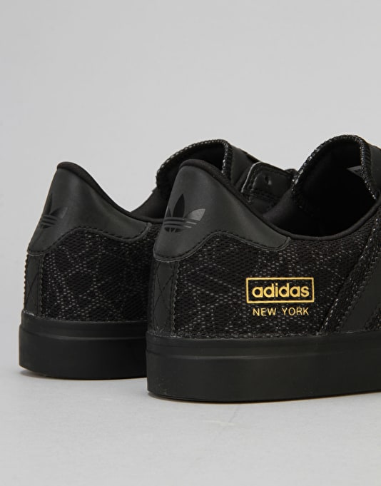Adidas Seeley II (Premiere) Skate Shoes - Black/Black/Gold Met.