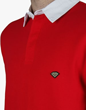 Diamond Supply Co. Contrast Collar Polo Shirt - Red/White