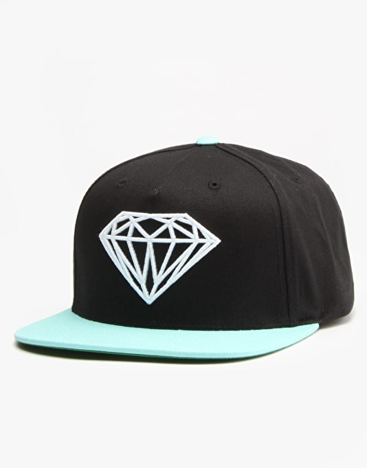 Diamond Brilliant Snapback Cap - Black/Diamond Blue