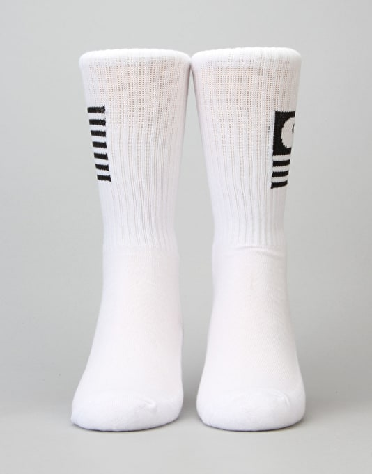 Carhartt State Socks - White/Black