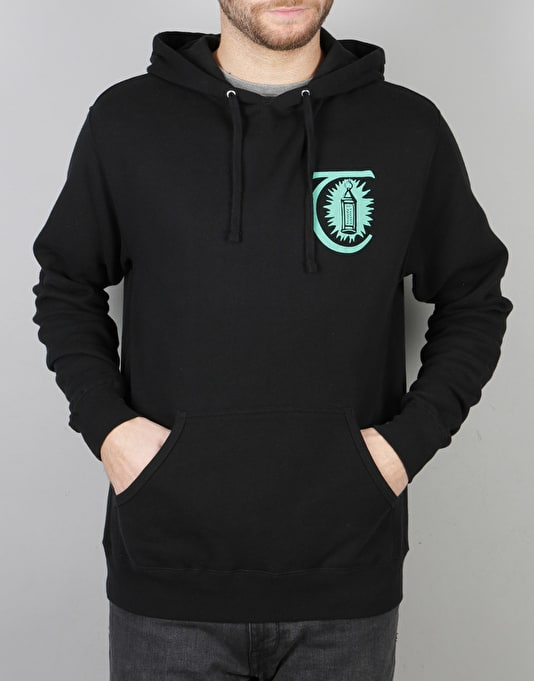 Theories Morning Star Pullover Hoodie - Black/Teal