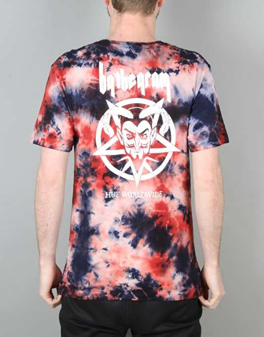 HUF x Ty Dolla $ign By The Gram Bloodwash T-Shirt - Red/Black