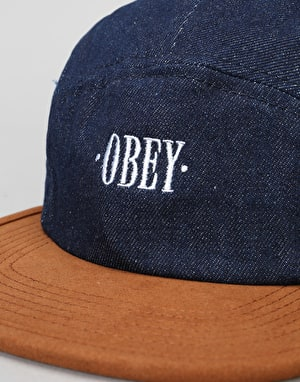 Obey Deschutes 5 Panel Cap - Dark Denim