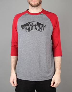 Vans OTW Raglan T-Shirt - Heather Grey/Cardinal
