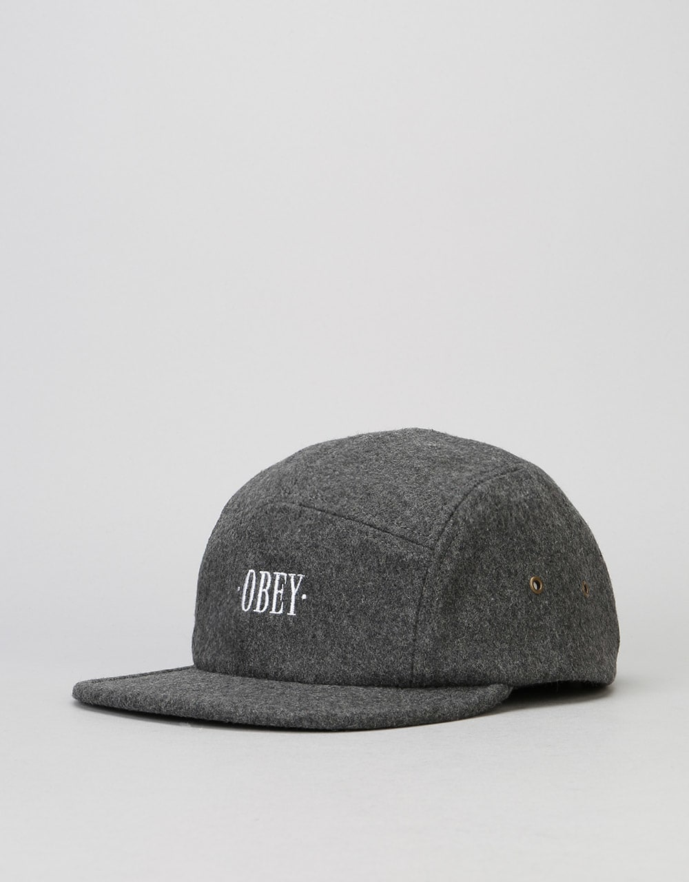 f5ac5019bb1 Obey Times 5 Panel Cap - Heather Grey