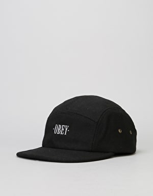 Obey Times 5 Panel Cap - Black