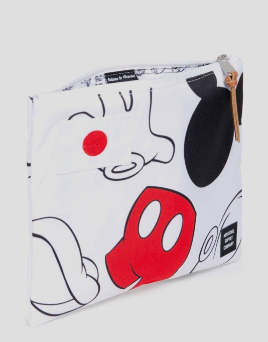 Herschel Supply Co. x Disney Network Pouch Large - Mickey Mouse White