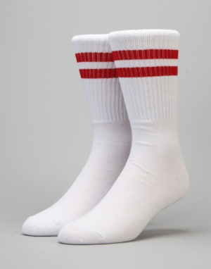 Carhartt College Socks - White/Fire