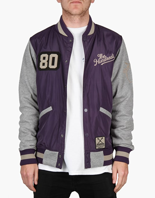 The Hundreds Recharged Jacket - Dark Purple/Athletic Heather