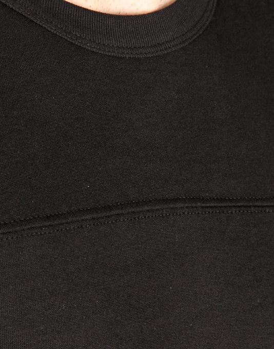Route One Sporting Heavyweight LS T-Shirt - Black