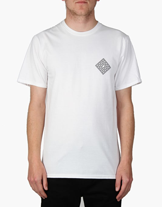 The National Skateboard Co. Fade Rose T-Shirt - White