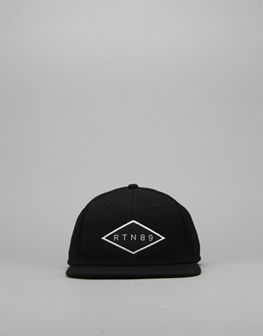 Route One Stamp Snapback Cap - Black